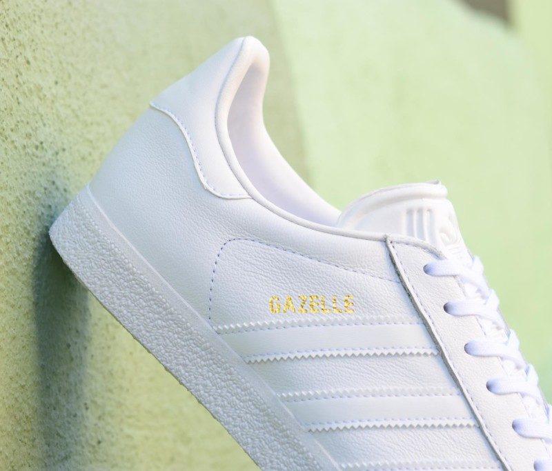adidas gazelle piel blancas