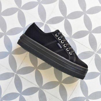 Plataforma Victoria 9205 Antelina Negra 09205_amorshoes-victoria-shoes-blucher-plataforma-chica-antelina-negra-negro-09205