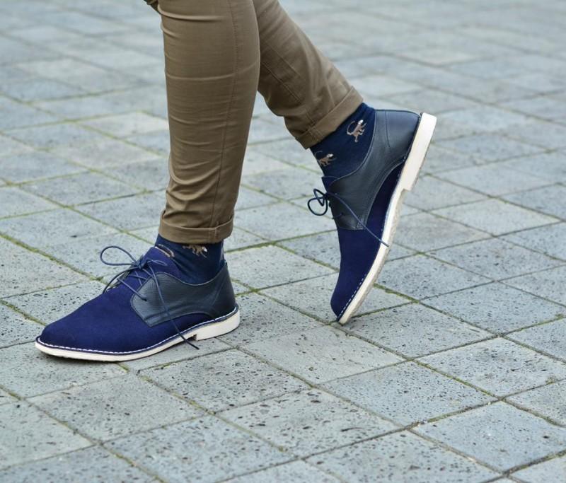 amorshoes derby serraje zapato suela piel marino blucher AAwUFxrWq