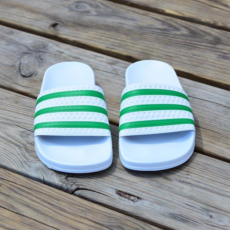 adidas blancas rayas verdes