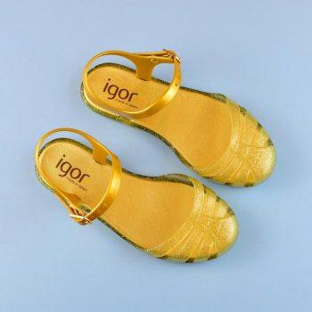 S10144-140_amorshoes-igor-shoes-cangrejera-niña-mara-mini-dorada-purpurina-oro-S10144-140