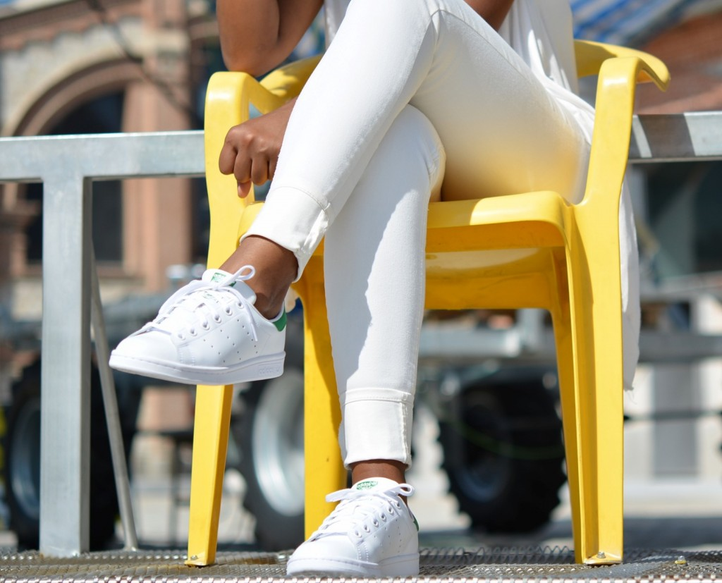 Adidas Originals STAN SMITH J Logo Verde