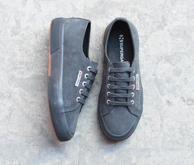 Entrega rápida barata El mejor lugar en línea Superga Sneakers - Ante - Gris Piedra Calidad superior Genuino a la venta h6gLQvmrO