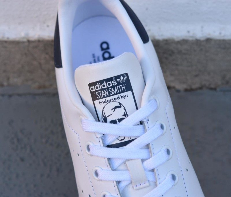 best loved 7bcf2 eb2a9 ... clearance m20325amorshoes adidas originals stan smith blanca logo azul  6b24c 2405e ...