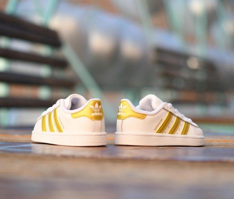 adidas superstar blanco dorado