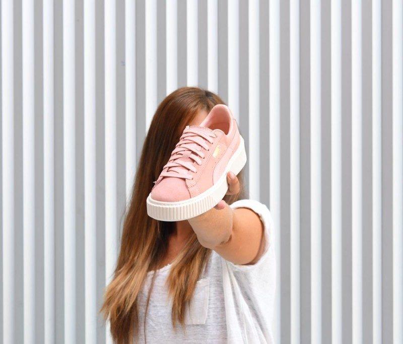 puma suede rosa palo