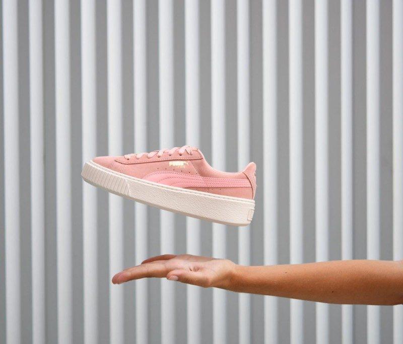 marca popular varios estilos comprar bien Puma Plataforma Suede Rosa Palo | AmorShoes