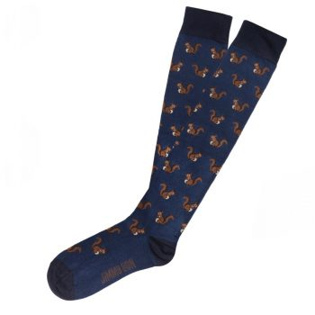 amorshoes-calcetin-caña-alta-jimmylion-squirrels-dark-blue