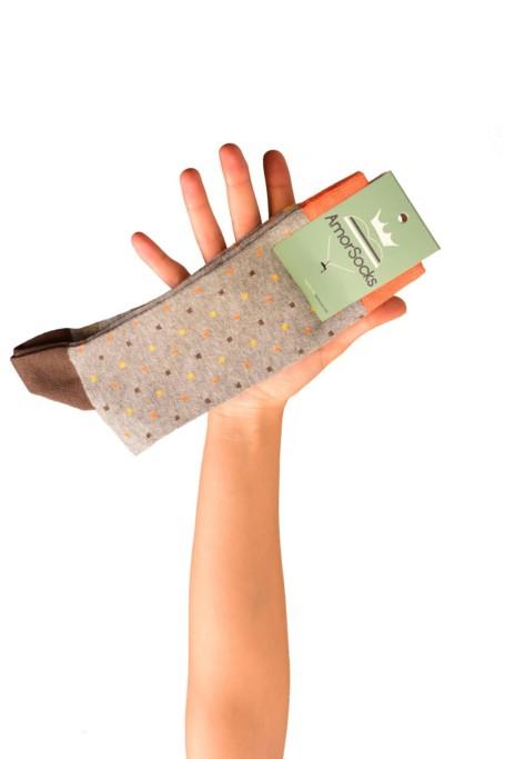 amorsocks-calcetines-socks-cubos-gris-melange-cuadrados-coral-verde-celeste