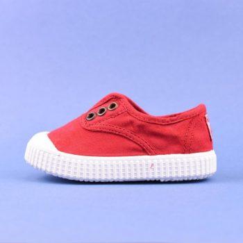 06627_AmorShoes-Victoria-inglesa-color-rojo-niños-lona-sin-cordones-elastico-puntera-goma-06627