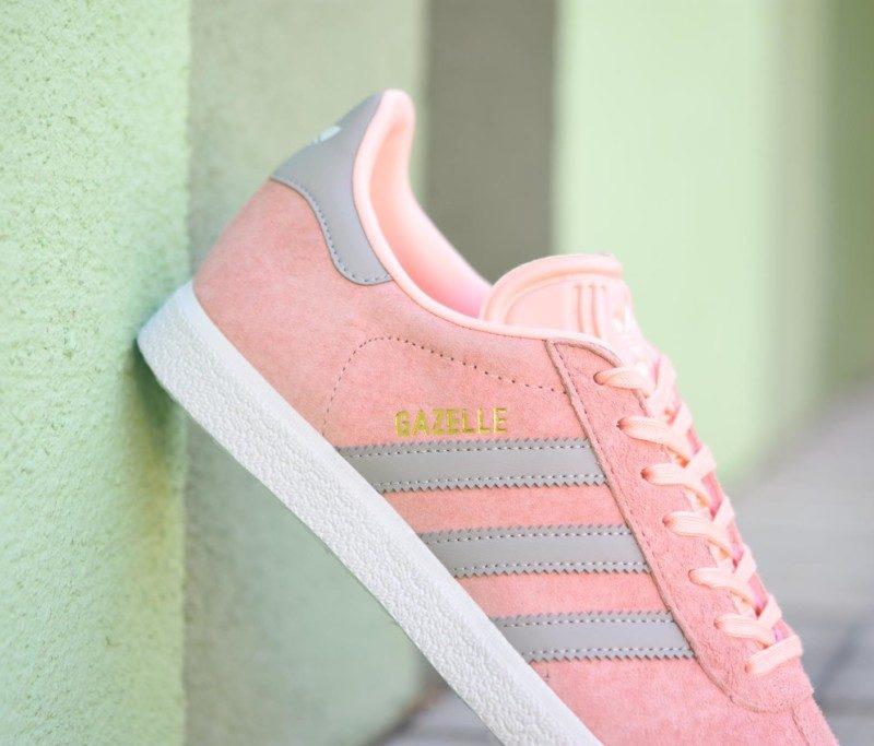 adidas gazelle rosa gris