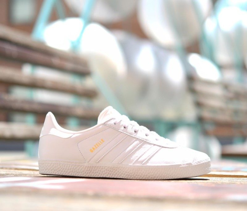 adidas gazelle j blancas