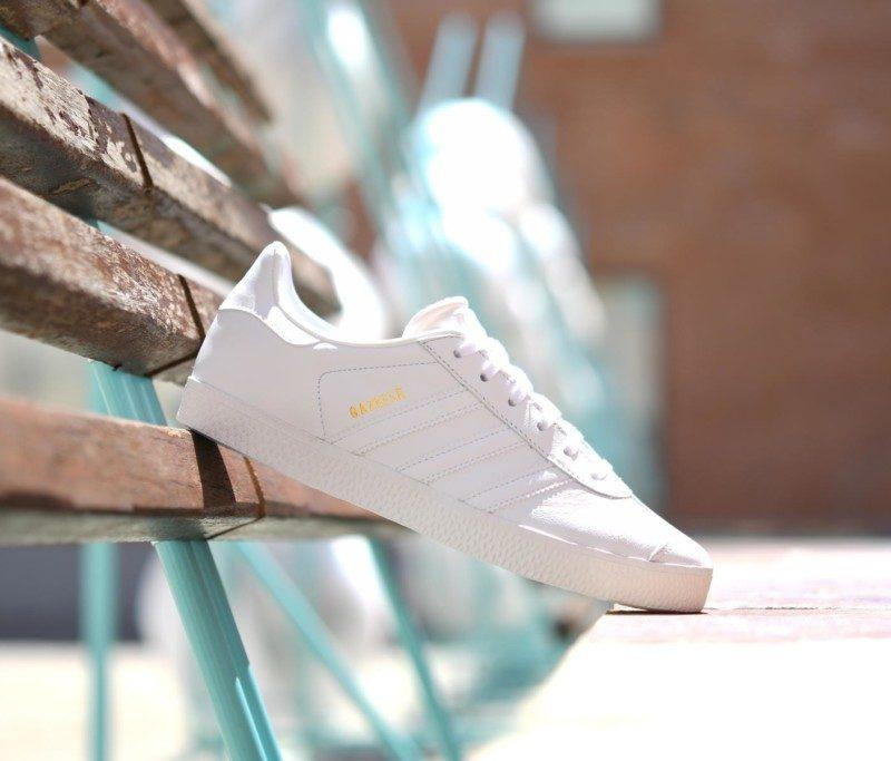 adidas gazelle j blanco