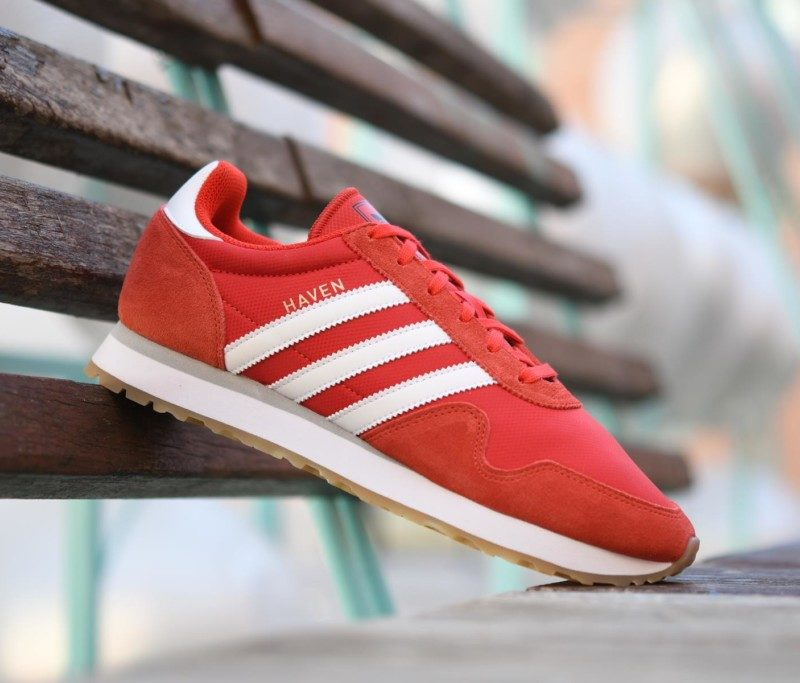 zapatillas adidas haven rojo