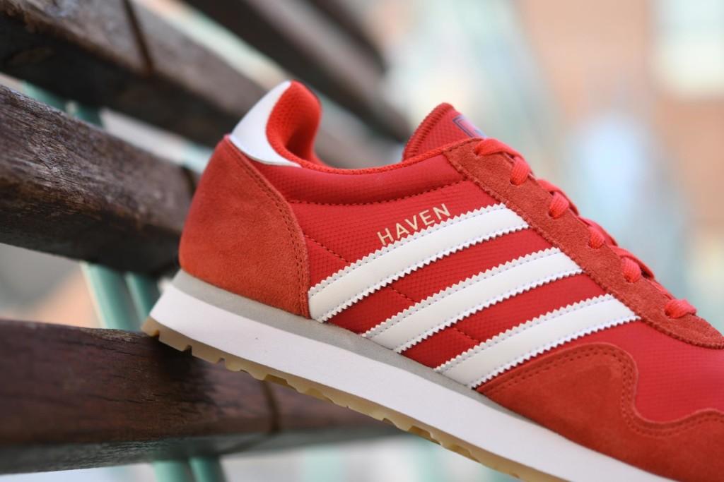 desbloquear moderadamente Golpe fuerte  Adidas Originals Haven Rojo / Blanco - AmorShoes
