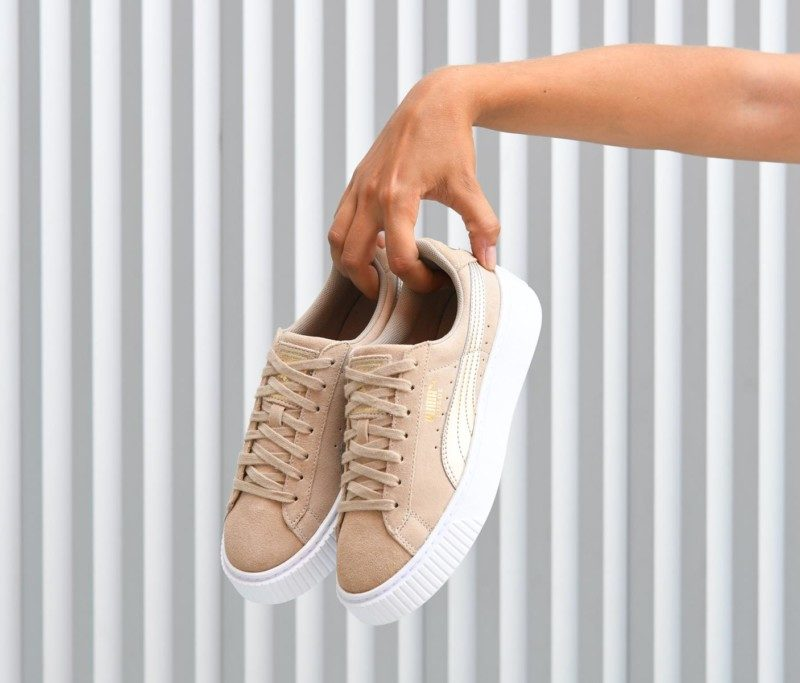 puma beige platform