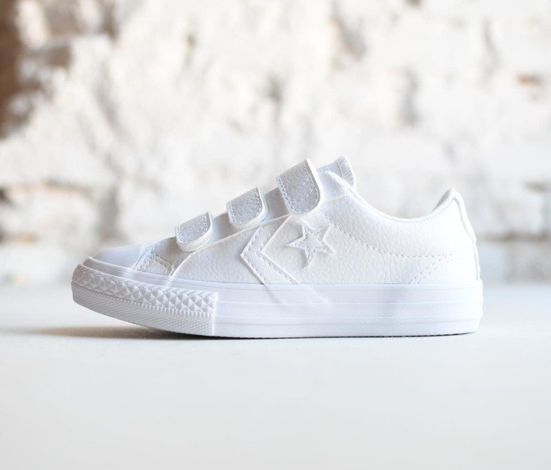 1f1350c88 ... Zapatillas Deportivas Converse Star Player All Star Velcro Piel Blanca.  651830C AmorShoes-Converse-Star-Player-EV-3V-OX-White-