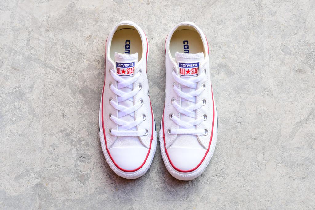 132173C_AmorShoes Converse Chuck Taylor All Star Piel Blanca Baja