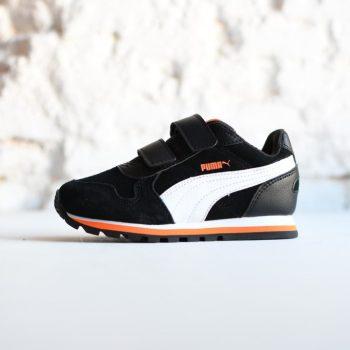 361583-05_AmorShoes-Puma-ST-Runner-SD-V-PS-black-white-zapatilla-niño-velcro-piel-vuelta-negra-blanco-naranja-361583-05