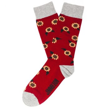 amorshoes-jimmy-lion-calcetin-sunflowers-red