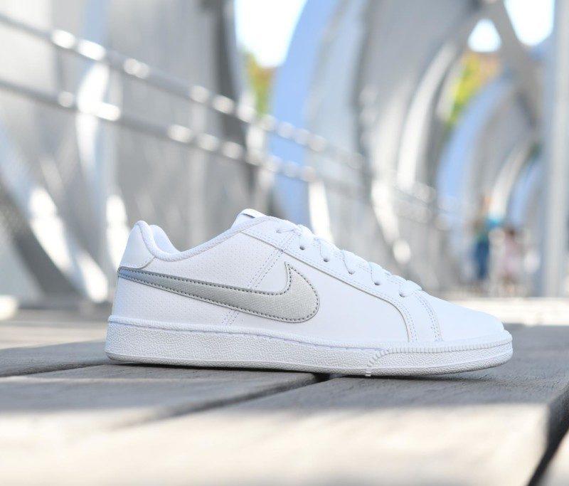 749867-100 amorshoes-nike-sportwear-Court-Royale-White-Metallic- b4584152650