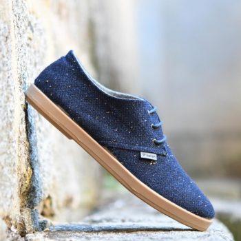 AmorShoes-Barqet-dogma-low-navy-cloth-azul-jaspeado-zapatilla-paño-suela-crepelina