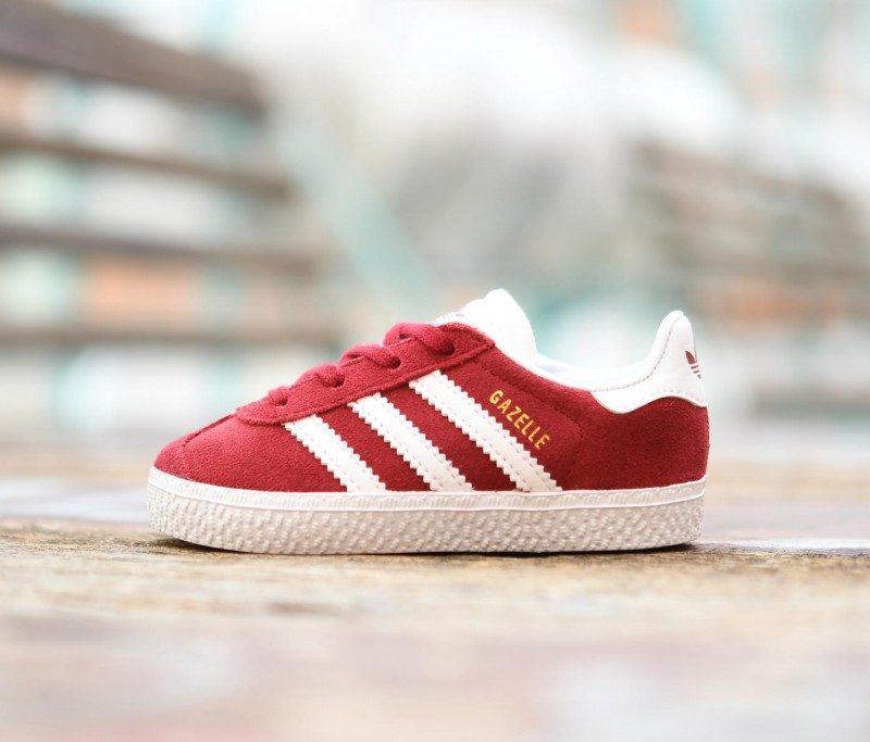 online retailer 336b9 2ac27 CQ2925 AmorShoes-Adidas-Originals-Niñ -Gazelle-I-Collegiate-Burgundy