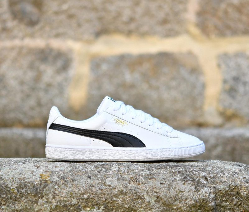 official photos 0028d 75545 Puma Heritage Basket Classic LFS White / Black | AmorShoes
