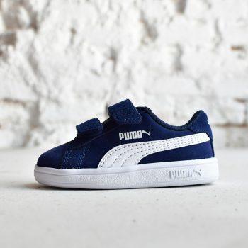 365178-02_AmorShoes-Puma-Smash-V2-SD-V-Infant-azul-marino-navy-peacoat-white-zapatilla-velcro-niño-piel-vuelta-ante-gris-logo-blanco-365178-02