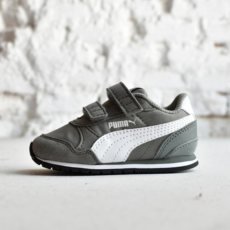 365295-02_AmorShoes-Puma-ST-Runner-V2-Inf-gris-grey-rock-ridge-puma-White-zapatilla-niño-velcro-piel-vuelta-nylon-365295-02