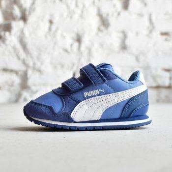 best website 885e0 938e4 Puma ST Runner Pequeñ s Azul Logo Blanco
