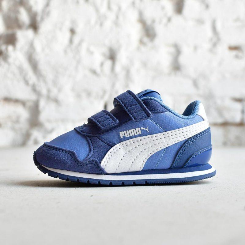 2d3f3296109 Puma ST Runner Pequeñ@s Azul Logo Blanco | AmorShoes