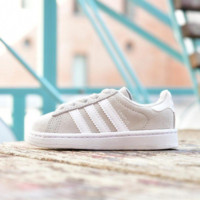 BY9595_AmorShoes-Adidas-Originals-Campus-el-i-niño-niña-Gris-CLARO-Grey-One-Footwear-white-piel-vuelta-GRIS-claro-blanco-cordon-elastico-BY9595