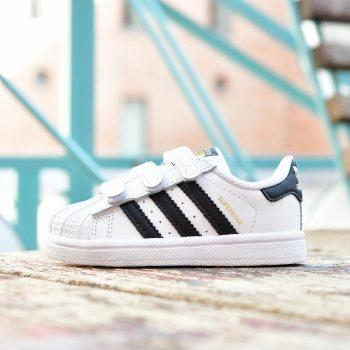 BZ0418_AmorShoes-Adidas-Originals-Superstar-CF-I-niño-niña-blanca-Footwear-white-Core-Black-piel-blanca-rayas-negras-velcro-BZ0418