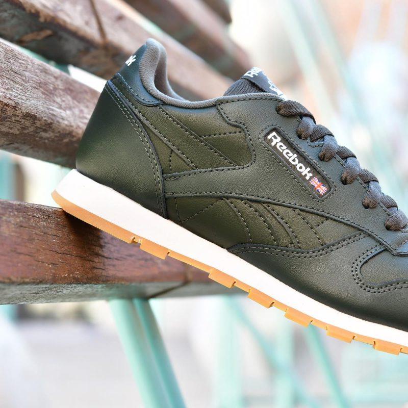 43db6f26573 Reebok Classic Leather Junior Verde Oscuro