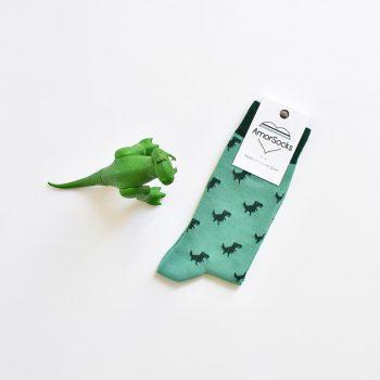 amorsocks-calcetines-socks-dinos-dinosaurios-trex-tiranoraurio-verde-green