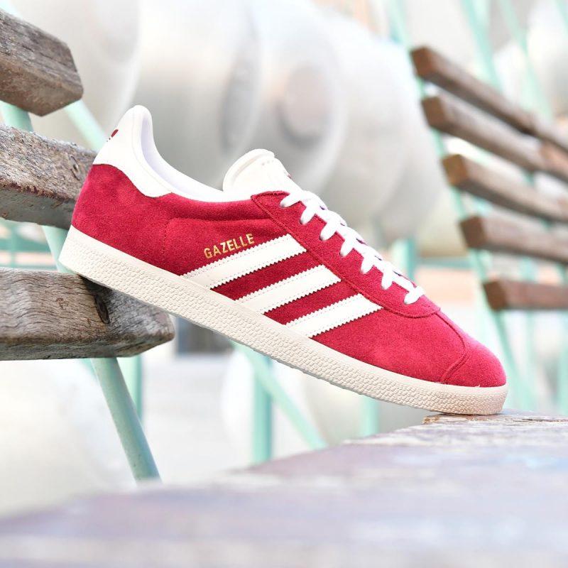 on sale 43381 47695 B41645 AmorShoes-adidas-Originals-Gazelle-Burgundy-Footwear-white-gold-