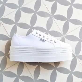 Plataforma Doble Victoria 105101 Blanca AmorShoes_105101-doble-platadorma-victoria-blucher-barcelona-lona-blanca-105101