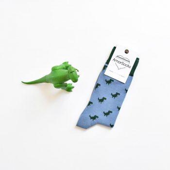 amorsocks-calcetines-socks-dinos-dinosaurios-trex-tiranoraurio-azul-blue