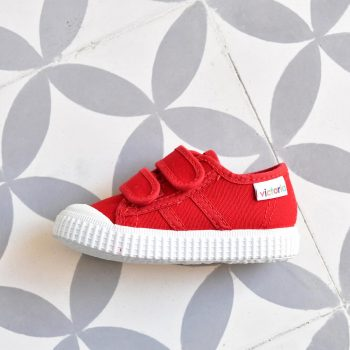 Zapatilla Basket Victoria 36606 Rojo 36606_AmorShoes-zapatilla-Victoria-shoes-basket-color-rojo-carmin-red-niños-lona-velcro-puntera-goma-36606