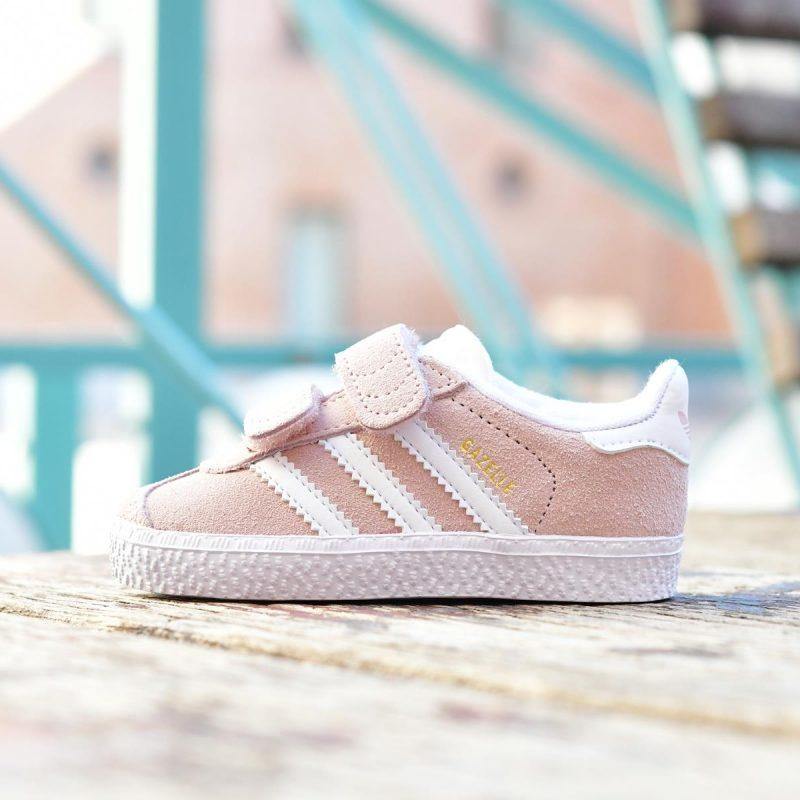 AH2229_AmorShoes-Adidas-Originals-Niñ@-Gazelle-CF-velcro-ice-pink-Footwear-White-Gold-Metallic-piel-vuelta-rosa-blanco-AH2229