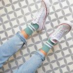 amorsocks-calcetines-socks-bajos-tobilleros-retro-rayas-verde-blanco