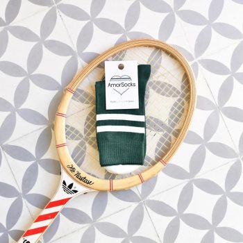 AmorSocks-calcetines-socks-retro-bajos-tobilleros-old-school-verde-botella-rayas-blancas-green-white-cuadrado