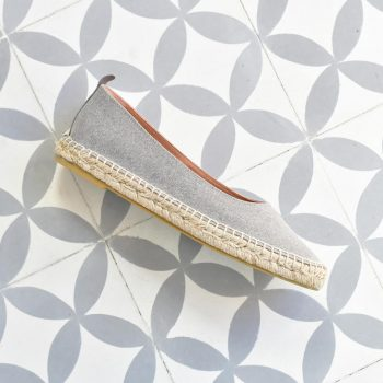 Bailarina Yute Pölka Shoes Elena Gris 412P_AmorShoes-Polka-Urban-bailarina-algodon-color-gris-suela-esparto-yute-412p