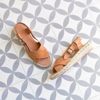 Sandalia Yute Cruzada Pölka Shoes Hermes Cuero 465P_AmorShoes-Polka-Hermes-sandalia-cruzada-cuña-piel-cuero-suela-cuña-esparto-yute-465p