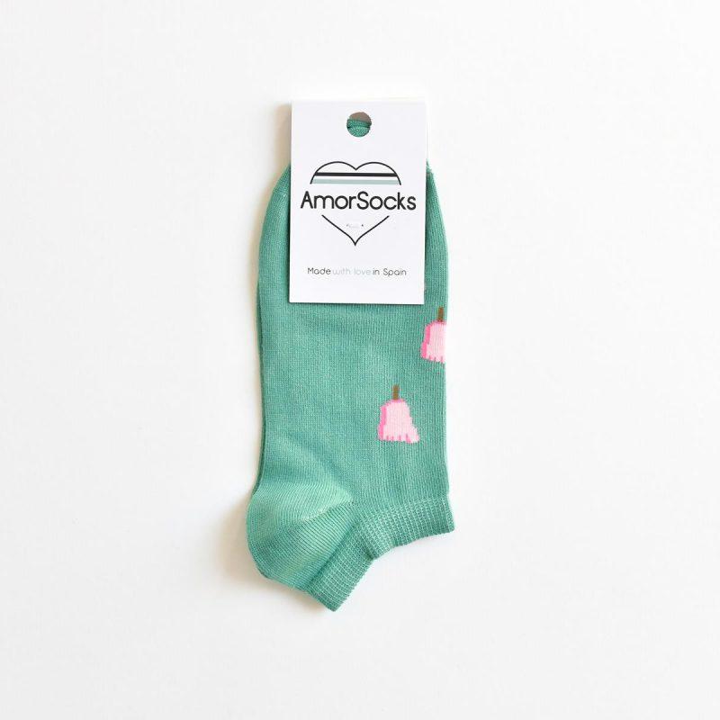 AmorSocks-calcetines-socks-tobillero-invisible-hombre-mujer-pie-helado-frigopie-verde