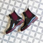 Botín de agua IgorShoes Track Bicolor Negro / Burdeos