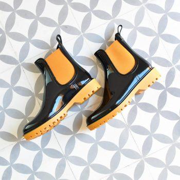 Botín de agua IgorShoes Track Bicolor Negro / Mostaza