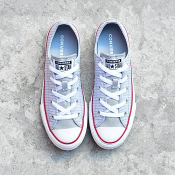 converse all star gris con rayas chicas junior