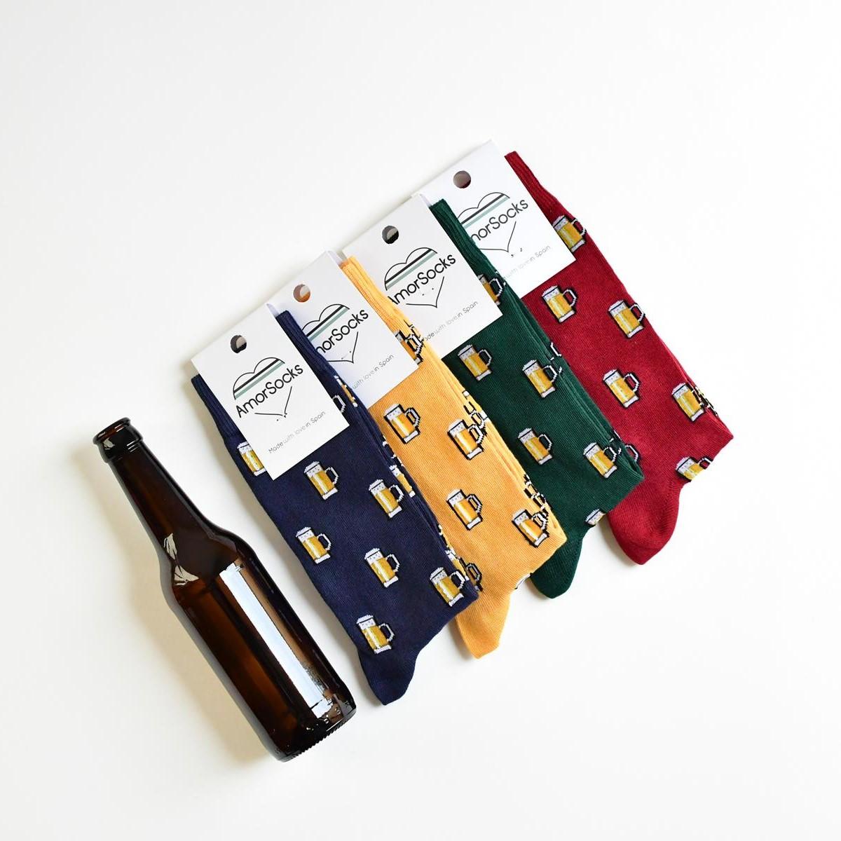 calcetines jarras de cerveza
